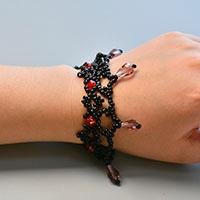 How to Make a Handmade Black Seed Beaded Weaving Bracelets for Women