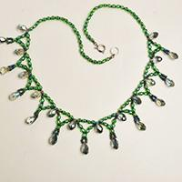 Pandahall Tutorial on How to Make Green Seed Beads Necklace with Glass Beads