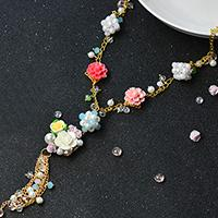 Pandahall Original DIY Project - How to Make a Handmade Flower Chain Necklace with Flower Tassels