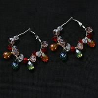Pandahall DIY Jewelry - How to Make a pair of Large Crystal Beaded Hoop Earrings with Colorful Glass