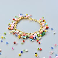How To Make Golden Chain And Alphabet Letter Beads Bracelets For Kids