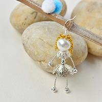 Easy Tutorial on How to Make Lovely Wire Wrapped Pearl Doll Earrings for Kids