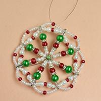 Pandahall Christmas Decoration- How to Make Pearl Beads Christmas Hanging Ornament