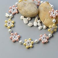 Pandahall Tutorial on How to Make Fresh Flower necklace with Pearl Beads