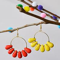 Pandahall Easy Project- How to Make Simple Hoop Earrings with Drop Turquoise Beads