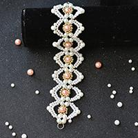 Pandahall Tutorial on How to Make a Handmade Pink and White Pearl Bead Bracelet