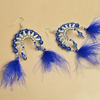 How to Make Tribal Style Chandelier Earrings with Safety Pins and Seed Beads
