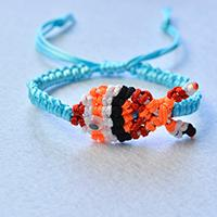 How to Make a Handmade Gold Fish Nylon Thread Braided Friendship Bracelet