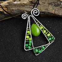 Pandahall Tutorial on How to Make Wire Wrapped Seed Beads Pendant Necklace