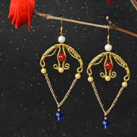 Detailed Tutorial on How to Make Wire Wrapped Chandelier Earrings with Glass Beads