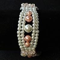 Pandahall Tutorial on How to Make Elegant Pearl Bracelet with Pink Glass Beads