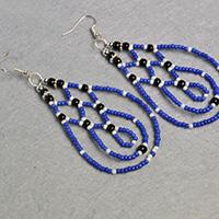 Pandahall DIY Project – How to Make Blue Drop Seed Beaded Earrings
