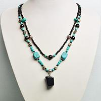 Instructions on How to Make a Beaded Gemstone Pendant Necklace