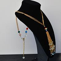 Pandahall Instruction on How to Make Chain Tassel Necklace with Glass Beads