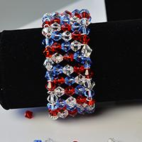 Easy Pandahall Tutorial - How to Make Handmade Blue and Red Glass Bead Bracelets