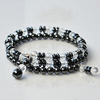 How to Make Cool Black Hematite and Clear Glass Beads Bracelet