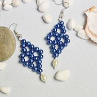 Pandahall Tutorial on How to Make Elegant Blue Pearl Beaded Drop Earrings