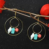 Pandahall Tutorial – How to Make DIY Wire Wrapped Hoop Earrings with Dangles
