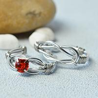 Pandahall DIY Project - How to Make Handmade Wire Wrapped Couple Rings