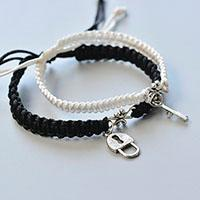 Easy Tutorial on Making Couple Friendship Bracelets with Tibetan Style Charms