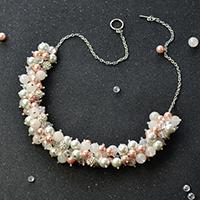 Easy Wedding Jewelry - How to Make a Pearl Bridal Cluster Necklace