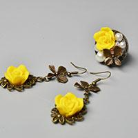 Pandahall Original DIY Project - Easy to Make Flower Earrings and Ring Set
