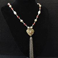 Valentine's Day Project – How to Make a Hollow Heart Pendant Necklace with Chain Tassels