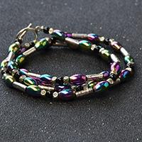 How to Make Tibetan Triple Strands Hematite Beaded Bracelet