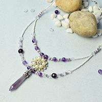 How to Make Simple yet Graceful Beaded Gemstone Pendant Necklace