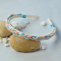 Pandahall Original DIY Project - How to Make a Handmade Pearl Beads and Cords Braided Headband
