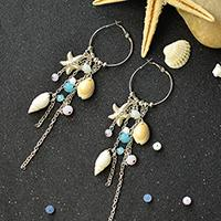 Beginners' Project – How to Make Ocean Style Tassel Hoop Earrings in Few Minutes