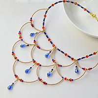 bead necklace design ideas Tutorial Instructions on bead necklace
