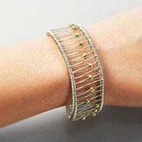 Wire Wrapped Jewelry – How to Make a Seed Beaded Wire Wrapped Bangle Bracelet
