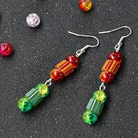 PandaHall Original DIY Project – How to Make Colorful Dangle Earrings with Glass Beads