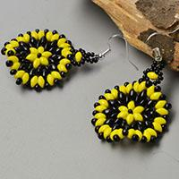 Pandahall Tutorial on How to Make 2-Hole Seed Beads Flower Earrings