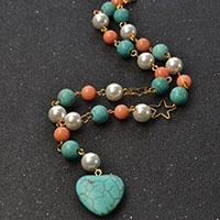 Pandahall Tutorial on How to Make Heart Charm Bracelet with Mixed Beads