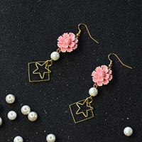 Pandahall Original Project-How to Make Simple Flower Dangle Earrings with Pearl Beads