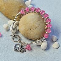 Pandahall Tutorial on How to Make Tibetan Crackle Glass Beads Charm Bracelet