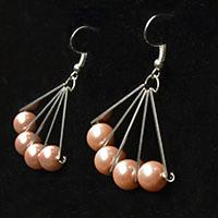 Pearls Earrings Design – How to Make Simple Fan Shaped Pearl Bead Earrings within 2 Steps