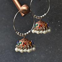 Pandahall Original Project-How to Make Tibetan Pearl and Rhinestone Hoop Earrings