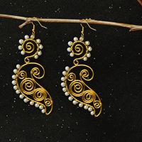 Pandahall Tutorial on How to Make Wire Wrapped Earrings with Pearl Beads