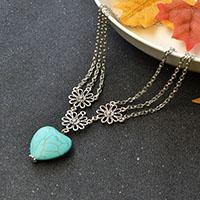 Easy Tutorials to Make Turquoise Heart Pendant Necklace