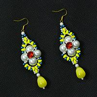 Pandahall Tutorial on Making a Pair of Handmade Two-hole Seed Bead Dangle Earrings