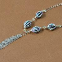 Jewelry Tutorial - How to Make a Beaded Easter Egg Long Chain Necklace