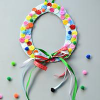 Easy Tutorials on Easter Egg Button Wreath