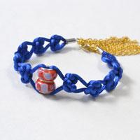 Tutorials on How to Make Blue Beaded Sailor Bracelet