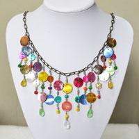 Pandahall Tutorial - How to Make Bohemian Style Colorful Necklaces with Glass Beads and Shells