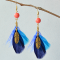 Beebeecraft Tutorial on Making Feather Dangle Earrings