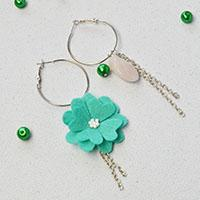 Beebeecraft ideas on how to Make personalize Felt Flower dangle Earrings