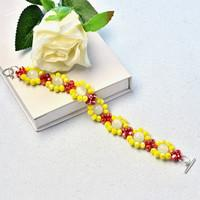 Beebeecraft Instructions on Making colorful faceted Bead and gemstone bead Bracelet